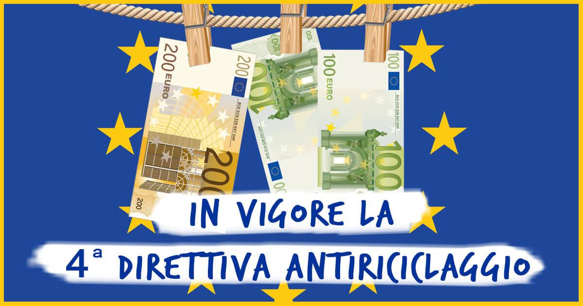 L'ANTIRICICLAGGIO DELLA IV DIRETTIVA