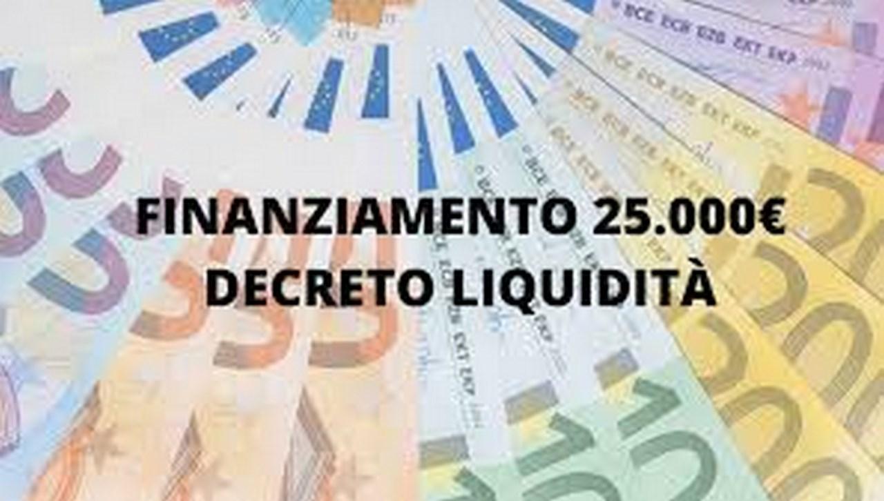 Decreto liquidità 25.000 €