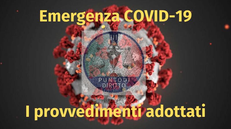 MISURE STRAORDINARIE DI SOSTEGNO FINANZIARIO PER L'EMERGENZA EPIDEMIOLOGICA DA COVID19
