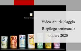 Antiriciclaggio Video settimanale riepilogo ottobre 2020