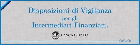 Bankit: Disposizioni di vigilanza intermediari finanziari (aggiornamento)